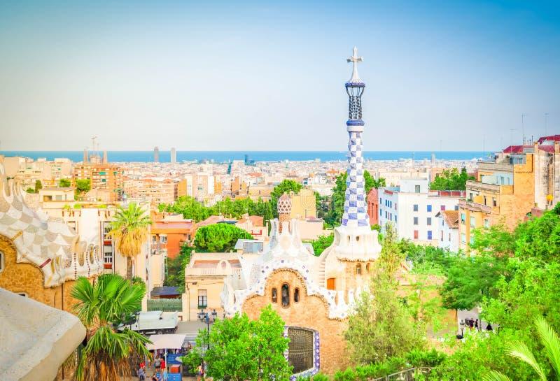 πάρκο της Βαρκελώνης guell στοκ φωτογραφίες με δικαίωμα ελεύθερης χρήσης