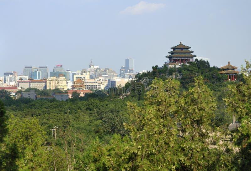 Πάρκο της Κίνας Πεκίνο εικονική παράσταση πόλης-Jingshan στοκ εικόνα