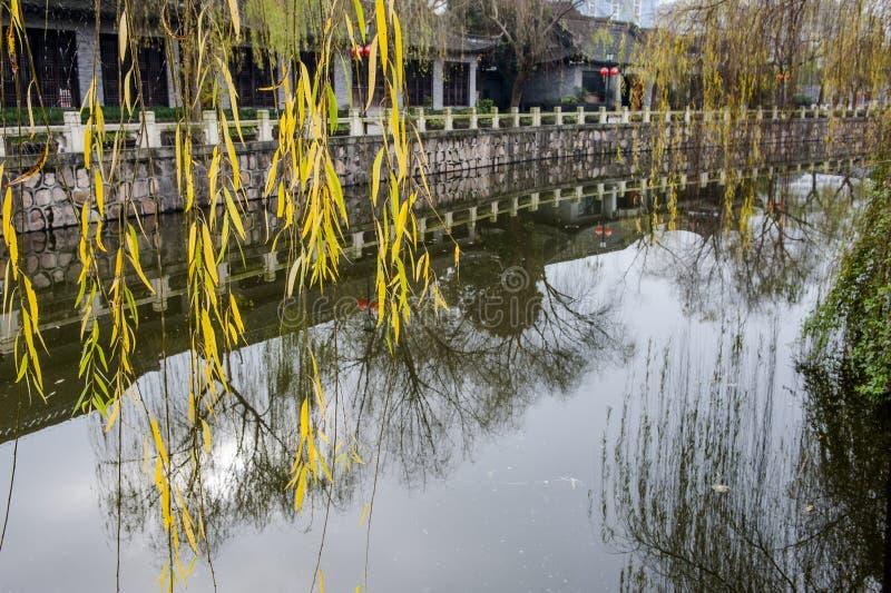 Πάρκο της Κίνας Rugao Watercolor στοκ φωτογραφίες