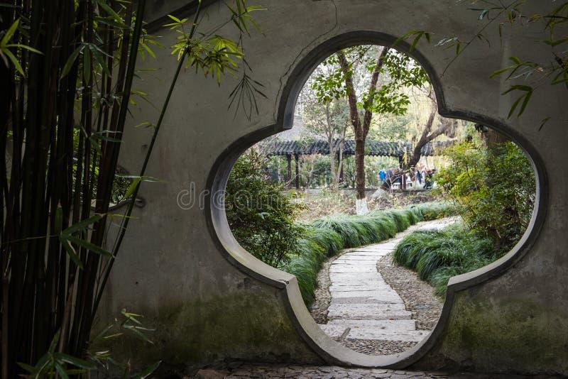 Πάρκο της Κίνας Rugao Watercolor στοκ φωτογραφίες με δικαίωμα ελεύθερης χρήσης