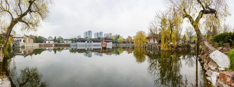 Πάρκο της Κίνας Rugao Watercolor στοκ εικόνες