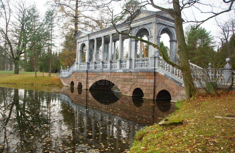 Πάρκο της Catherine και η σιβηρική γέφυρα στοκ εικόνες με δικαίωμα ελεύθερης χρήσης