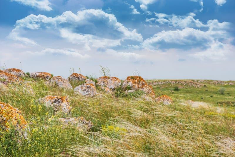 Πάρκο τοπίων στεπών της Κριμαίας Χερσόνησος Kerch στοκ εικόνες