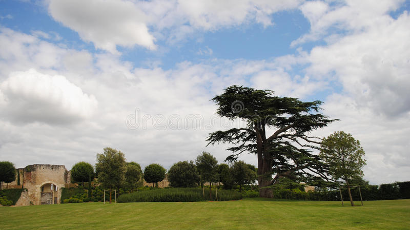 Πάρκο τοπίων της Γαλλίας ανοιχτός ουρανός στοκ εικόνες με δικαίωμα ελεύθερης χρήσης