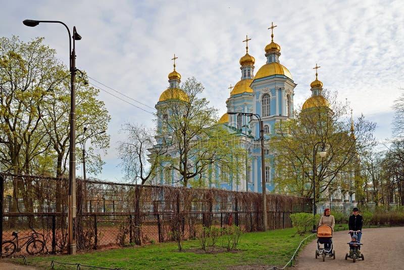 Πάρκο του Άγιου Βασίλη και ναυτικός καθεδρικός ναός του Άγιου Βασίλη στο ST Peters στοκ εικόνα με δικαίωμα ελεύθερης χρήσης