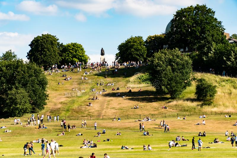 Πάρκο του Γκρήνουιτς στο Λονδίνο στοκ φωτογραφία με δικαίωμα ελεύθερης χρήσης
