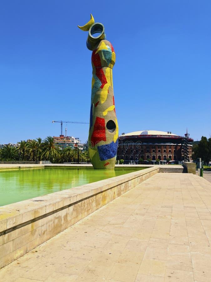 Πάρκο του Joan Miro στη Βαρκελώνη στοκ φωτογραφίες με δικαίωμα ελεύθερης χρήσης