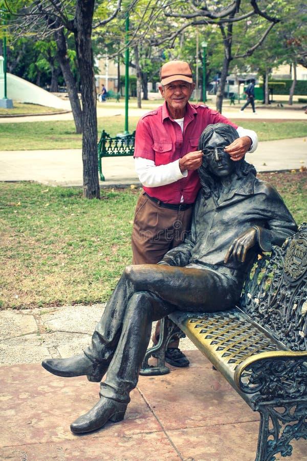 Πάρκο του John Lennon στην Αβάνα, Κούβα στοκ εικόνες