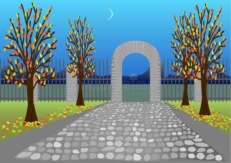 πάρκο φθινοπώρου διανυσματική απεικόνιση