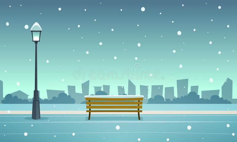 Πάρκο χειμερινών πόλεων ελεύθερη απεικόνιση δικαιώματος