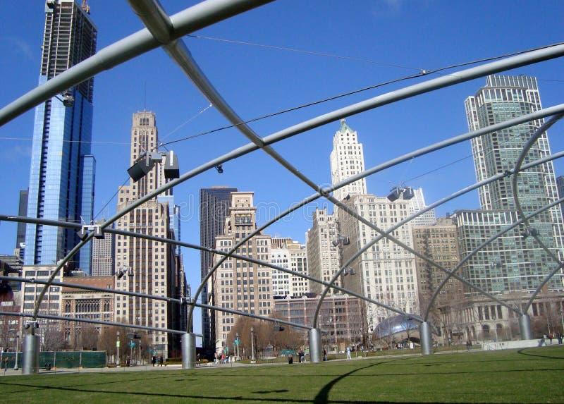 πάρκο χιλιετίας του Σικάγου στοκ εικόνα με δικαίωμα ελεύθερης χρήσης