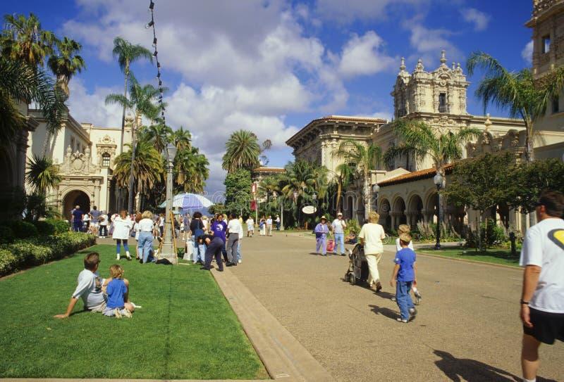 πάρκο BALBOA απογεύματος στοκ εικόνα με δικαίωμα ελεύθερης χρήσης