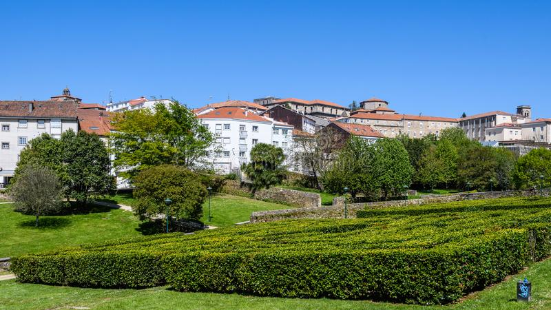 Πάρκο Belvis στο Σαντιάγο de Compostela, Ισπανία στοκ εικόνες με δικαίωμα ελεύθερης χρήσης