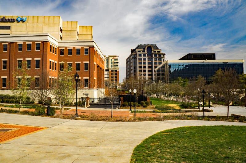 Πάρκο Elmwood, πόλη Roanoke, Βιρτζίνια, ΗΠΑ στοκ εικόνα με δικαίωμα ελεύθερης χρήσης