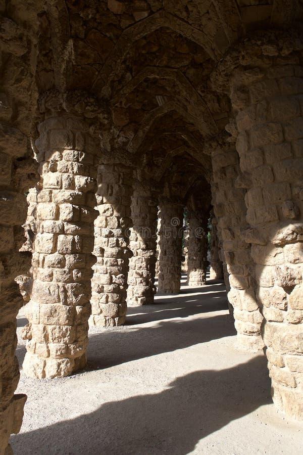 Πάρκο Guel της Βαρκελώνης, Ισπανία στοκ φωτογραφία με δικαίωμα ελεύθερης χρήσης