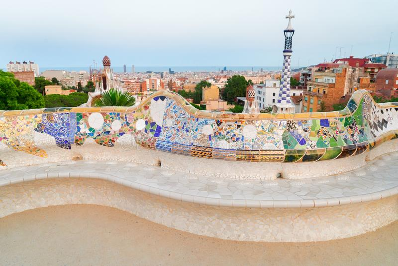 Πάρκο Guell, Βαρκελώνη στοκ φωτογραφίες με δικαίωμα ελεύθερης χρήσης