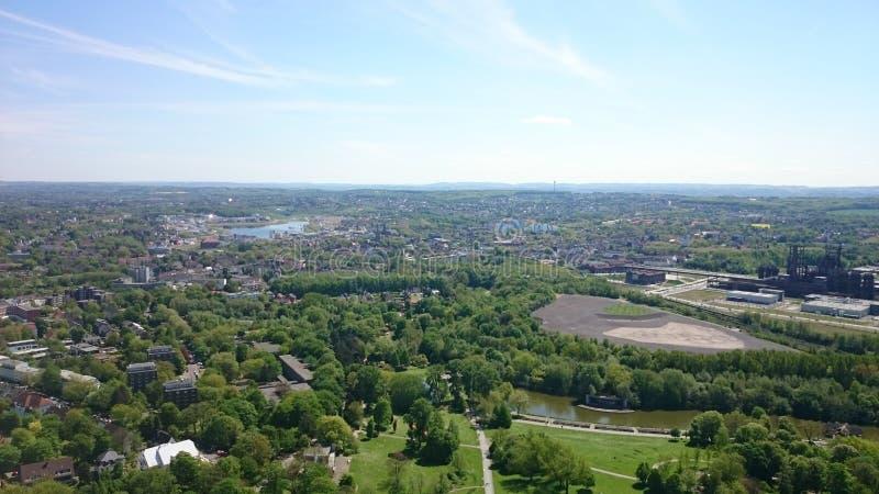 Πάρκο NRW Aussicht Florian Turm του Ντόρτμουντ στοκ εικόνα με δικαίωμα ελεύθερης χρήσης