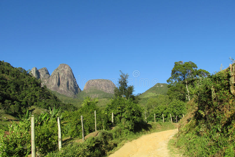 Πάρκο Picos Tres, ατλαντικό τροπικό δάσος, Βραζιλία στοκ φωτογραφίες με δικαίωμα ελεύθερης χρήσης
