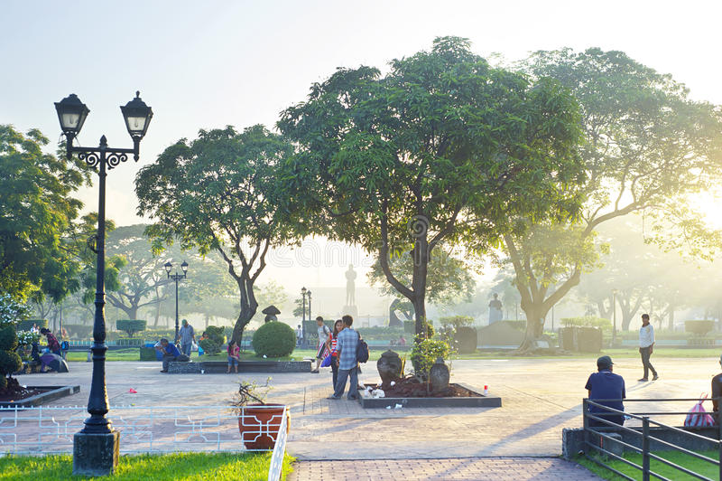 πάρκο rizal στοκ εικόνες