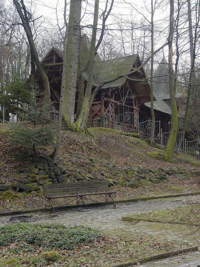 Πάρκο Truskavets, περιοχή Lviv, της Ουκρανίας στοκ φωτογραφία με δικαίωμα ελεύθερης χρήσης