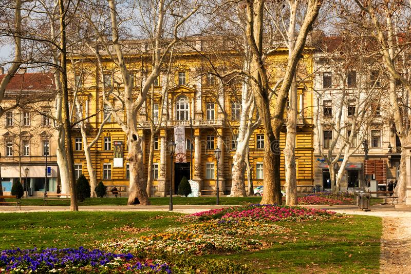 Πάρκο Zrinjevac, Ζάγκρεμπ στοκ φωτογραφία