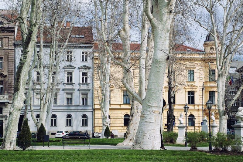 Πάρκο Zrinjevac στο Ζάγκρεμπ, Κροατία στοκ εικόνες