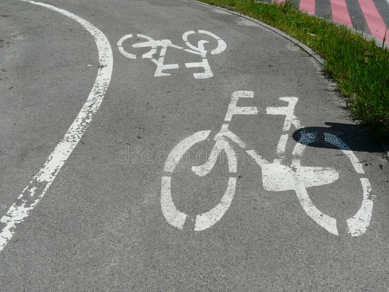 Πάροδος ποδηλάτων σε Zabrze, Σιλεσία, Πολωνία στοκ εικόνες με δικαίωμα ελεύθερης χρήσης