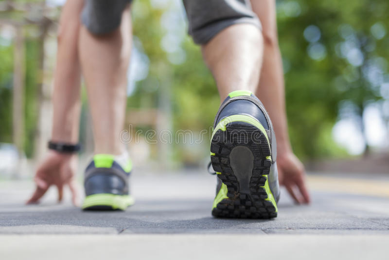 Πάρτε έτοιμος να τρέξει στοκ εικόνα με δικαίωμα ελεύθερης χρήσης