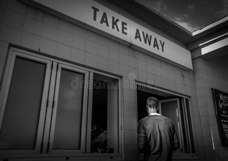 Πάρτε μαζί το εστιατόριο στην ακτή, Bournemouth, Αγγλία στοκ φωτογραφίες