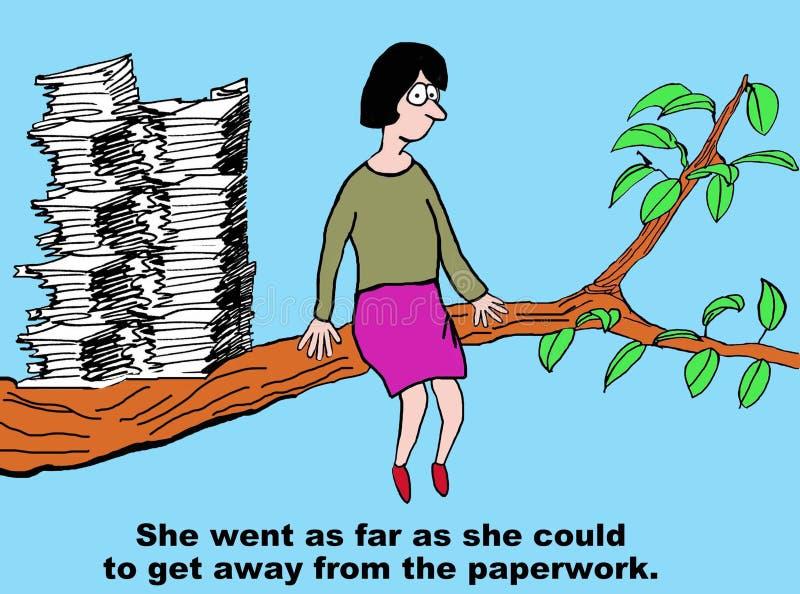 Πάρτε μακρυά από τη γραφική εργασία ελεύθερη απεικόνιση δικαιώματος