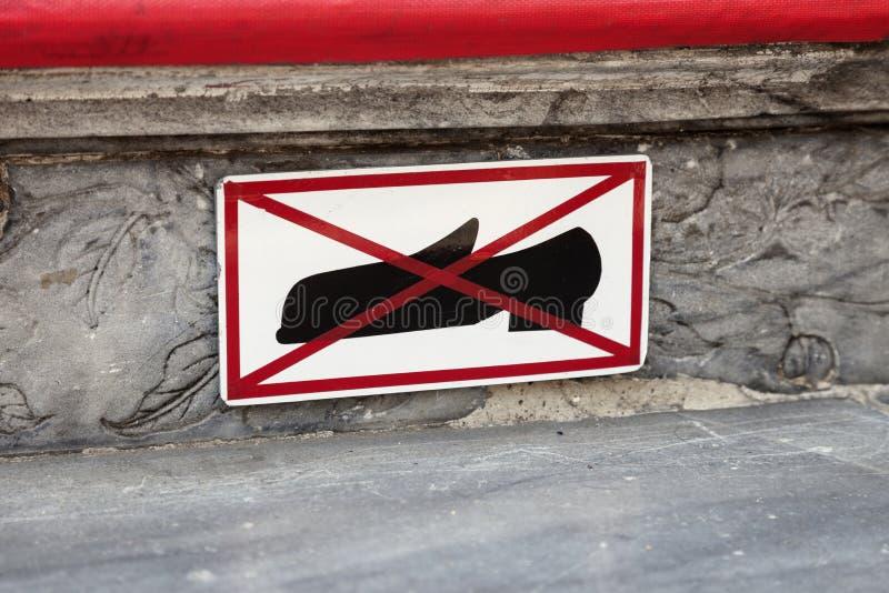 Πάρτε τα παπούτσια σας μακριά στοκ εικόνες με δικαίωμα ελεύθερης χρήσης