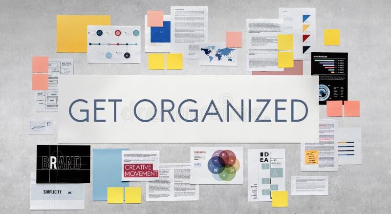 Πάρτε την οργανωμένη έννοια διοικητικής στρατηγικής διανυσματική απεικόνιση