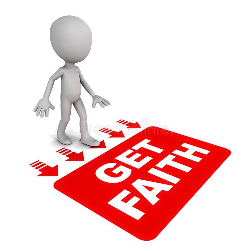 Πάρτε την πίστη διανυσματική απεικόνιση