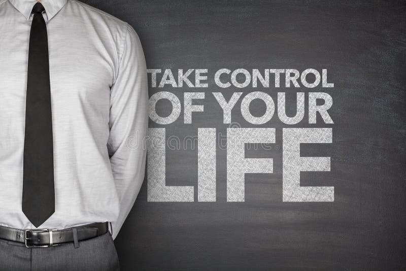 Πάρτε τον έλεγχο της ζωής σας στον πίνακα στοκ φωτογραφίες