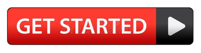 Πάρτε το αρχισμένο κουμπί απεικόνιση αποθεμάτων
