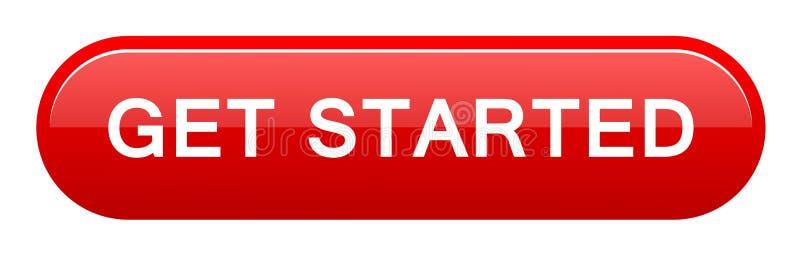 Πάρτε το αρχισμένο κουμπί ελεύθερη απεικόνιση δικαιώματος