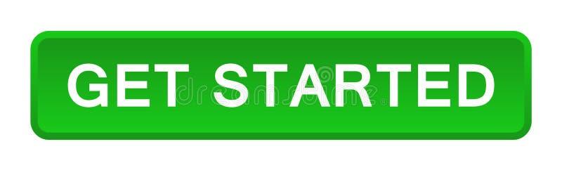 Πάρτε το αρχισμένο κουμπί διανυσματική απεικόνιση