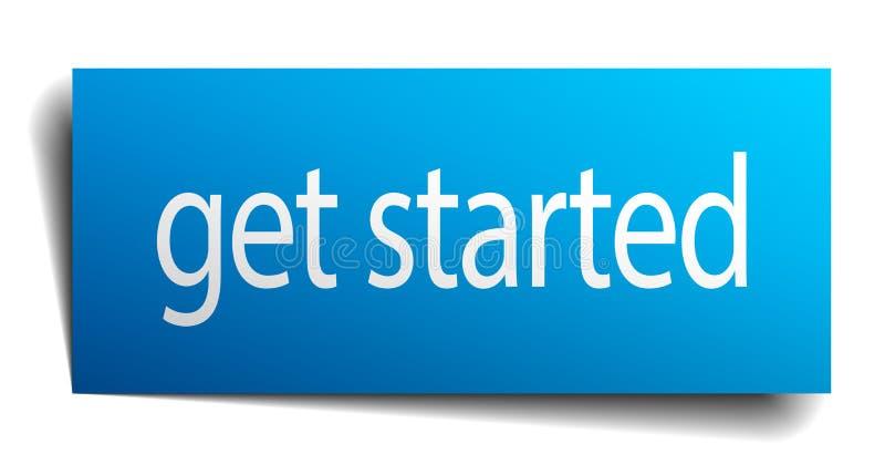 πάρτε το αρχισμένο σημάδι απεικόνιση αποθεμάτων