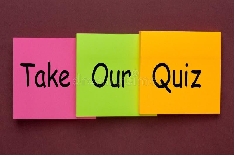 Πάρτε το διαγωνισμό γνώσεών μας στοκ φωτογραφία με δικαίωμα ελεύθερης χρήσης