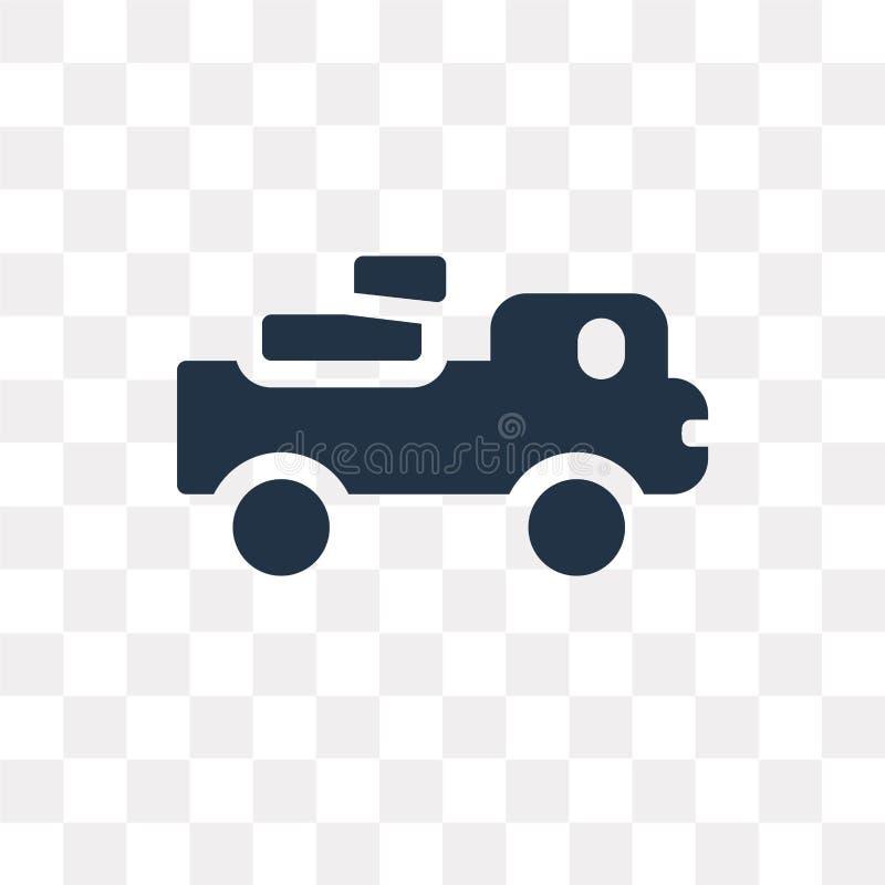 Πάρτε το διανυσματικό εικονίδιο φορτηγών που απομονώνεται στο διαφανές υπόβαθρο, pi διανυσματική απεικόνιση