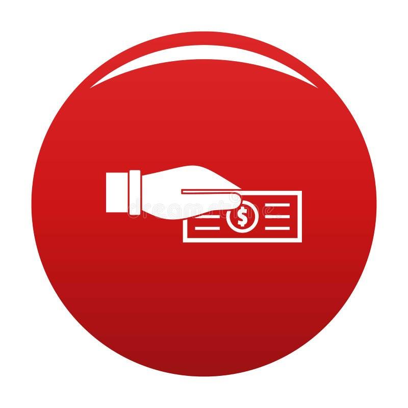 Πάρτε το διανυσματικό κόκκινο φορολογικών εικονιδίων απεικόνιση αποθεμάτων