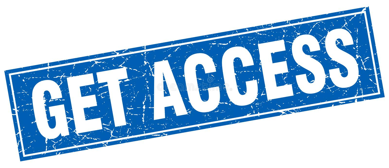 πάρτε το μπλε τετραγωνικό γραμματόσημο grunge πρόσβασης απεικόνιση αποθεμάτων