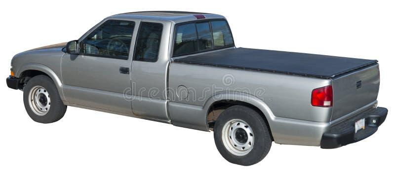 Πάρτε το truck, κάλυψη Tonneau που απομονώνεται γκρίζος στοκ εικόνες
