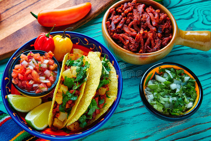 Πάστορας μεξικανός Al Tacos με τον ανανά κορίανδρου στοκ φωτογραφία με δικαίωμα ελεύθερης χρήσης