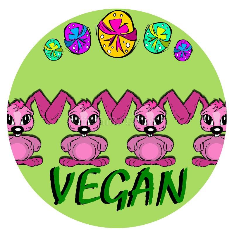 Πάσχα: ευτυχές vegan λαγουδάκι ελεύθερη απεικόνιση δικαιώματος
