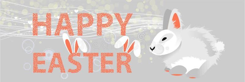 Πάσχα bunny Πάσχα Πάσχα ευτυχές απεικόνιση αποθεμάτων