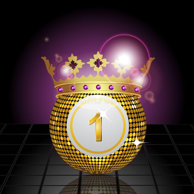 πάτωμα κορωνών bingo σφαιρών που απεικονίζεται που κεραμώνεται διανυσματική απεικόνιση