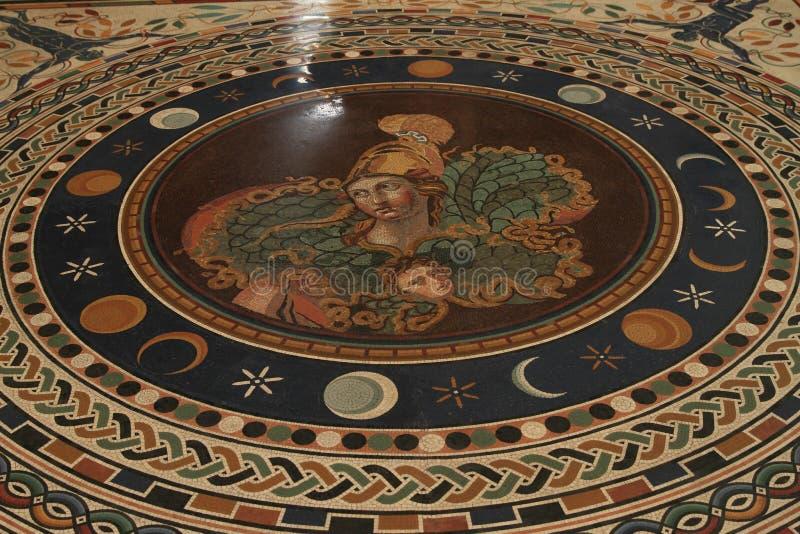 Πάτωμα μωσαϊκών στο μουσείο Βατικάνου στοκ εικόνες με δικαίωμα ελεύθερης χρήσης