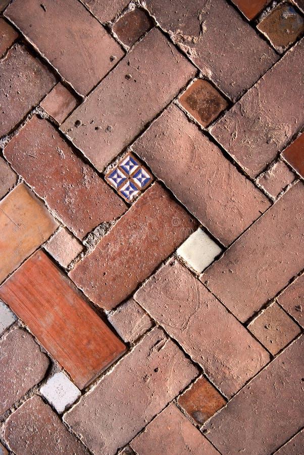 πάτωμα τούβλου στοκ εικόνα