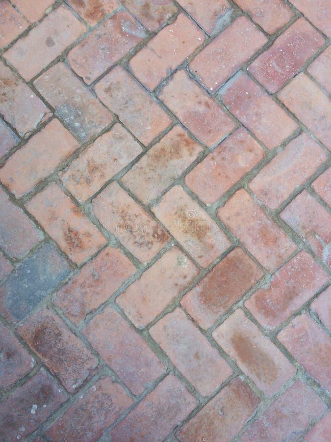 Πάτωμα τούβλων τρεκλίσματος στοκ φωτογραφία με δικαίωμα ελεύθερης χρήσης